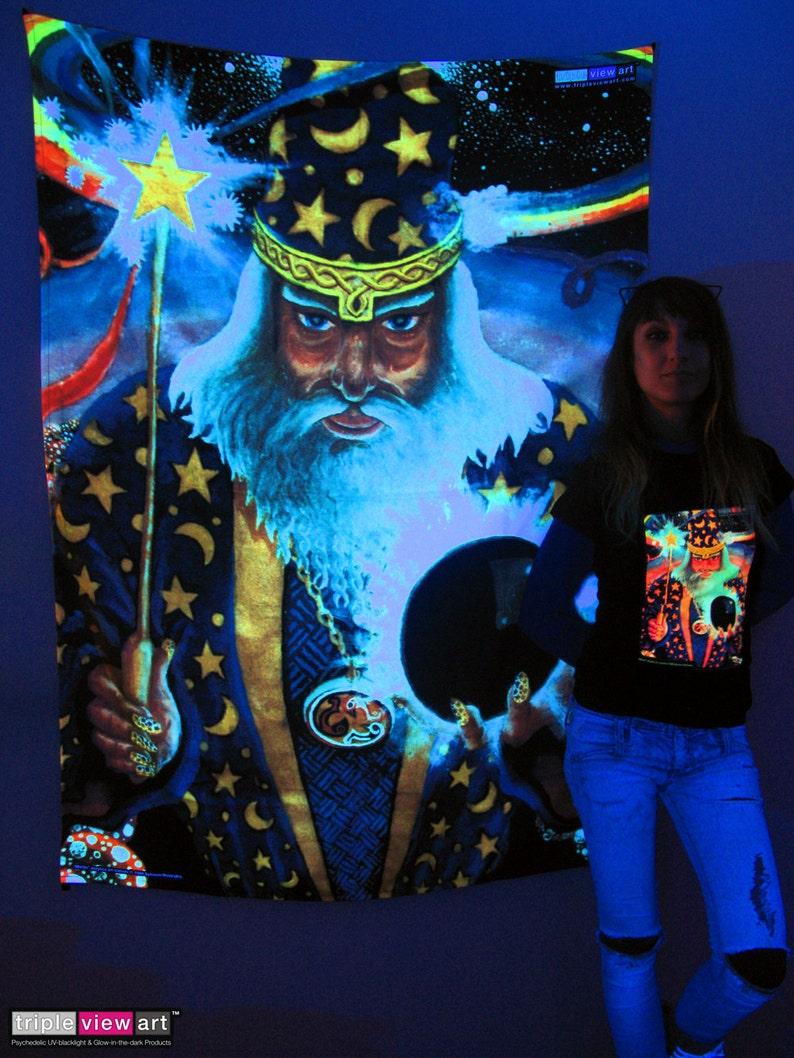 Merlin UV Black Light Fluorescent Glow Psychedelic Psy Goa image 0