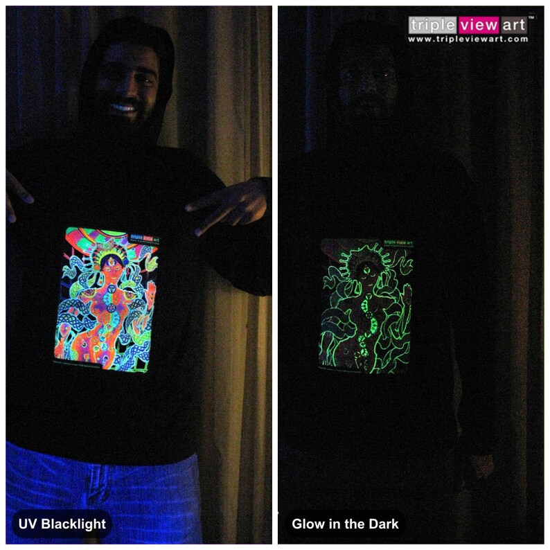 Chakra Girl UV Black Light Fluorescent & Glow In The Dark image 0