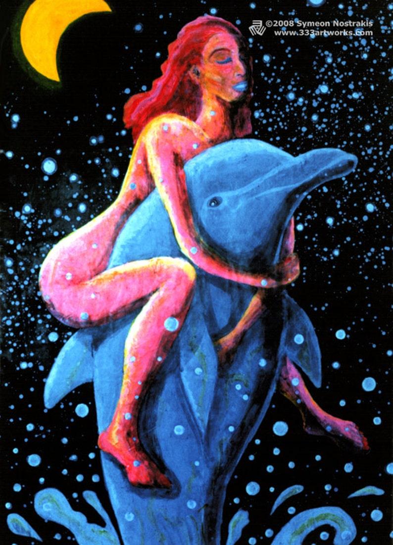 Dolphin Girl UV Black Light Fluorescent & Glow In The Dark image 0