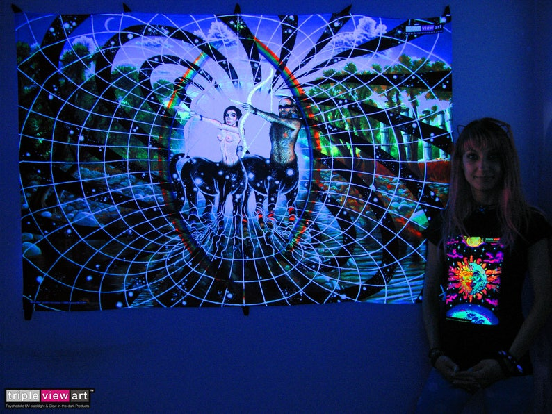 All Is One UV Black Light Fluorescent Glow Psychedelic Psy Goa image 0