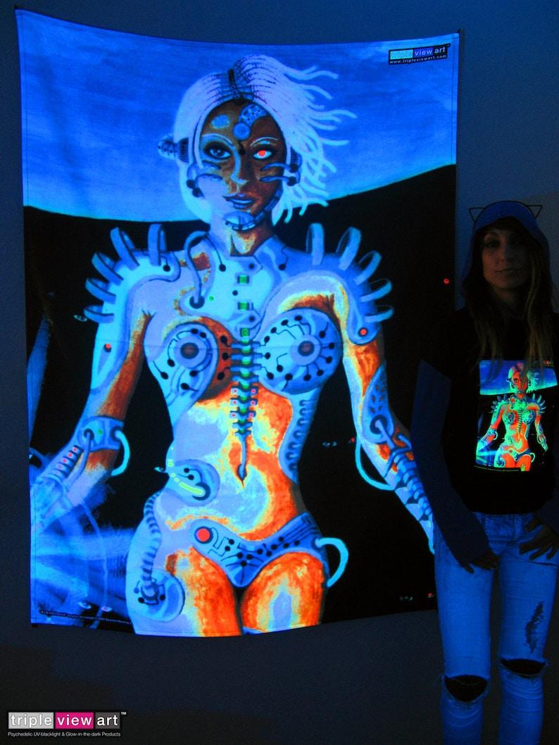 Biomechanoid UV Black Light Fluorescent Glow Psychedelic Psy image 0