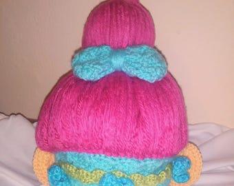 Crochet troll hat (wig)