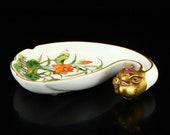 N7550 Chinese Gilt Gold Famille Rose Porcelain Pig Head Brush Washer w Qianlong Mark