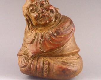 N4284 Chinese Bamboo Buddhism Arhat Statue