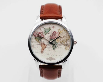 World map watch | Etsy