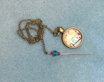 New Product! Drink Me (Alice In Wonderland) Needleminder with frogger attached - only 1!
