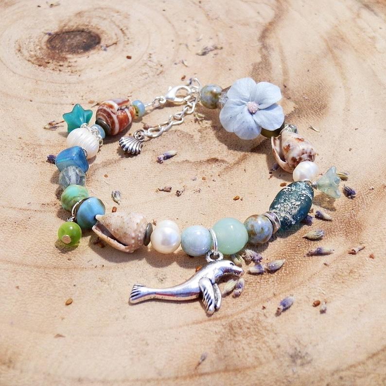 Selkie bracelet selkie jewellery seal bracelet green blue image 0