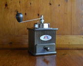 Later Model Zassenhaus Dark Stained Coffee Grinder Mill Burr Style