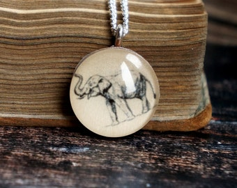 Elephant necklace , elephant gift ideas , elephant jewelry , elephant charm