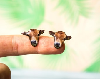 cow studs , cow jewelry , animal earrings , cow stud earrings , farm animal earrings , cow gifts , vegan gift , vegan earrings