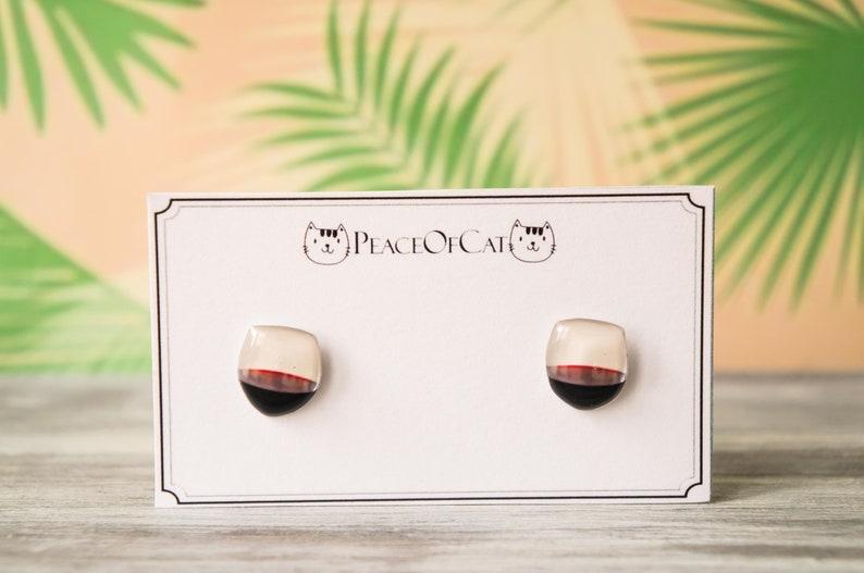 wine lover gift  wine earrings  wine jewelry  wine gifts image 0