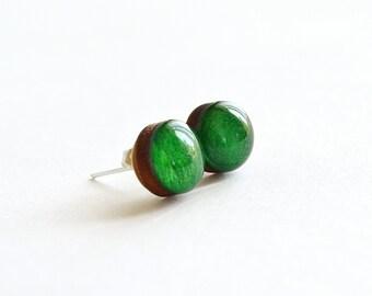 eco jewelry gift , teen gift earring  , teenage girl gift , nature stud earrings , boho ear studs ,