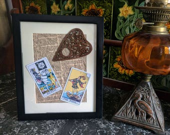 Tarot cards and planchette frame