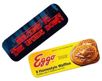 Miniature Waffles in a Bottle Pendant Eleven Eggos Set Eggo Post Earrings