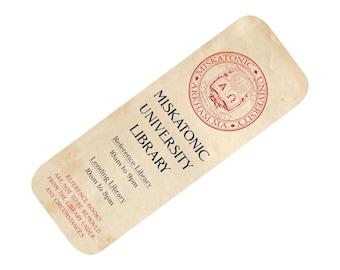 Cthulhu bookmark: Miskatonic University Library bookmark