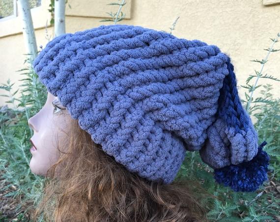 Floppy Fleece Hat -- a loom knit pattern