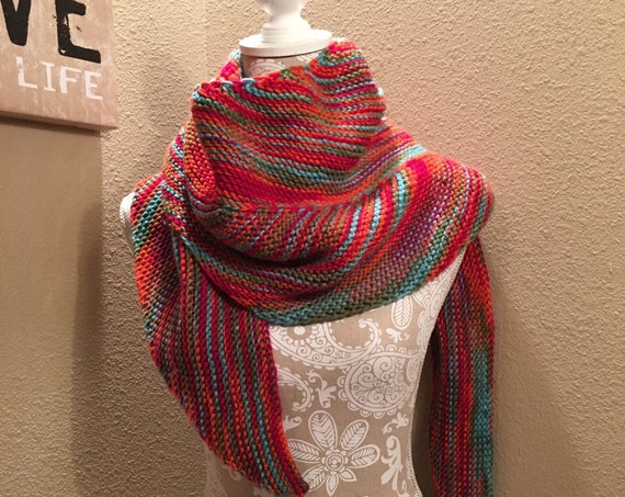 Bird of Paradise Shawl -- a loom knit pattern