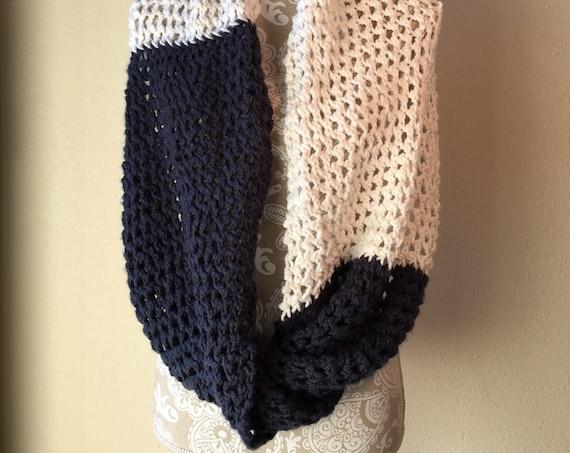 Rivulet Lace Infinity Wrap - a loom knit pattern