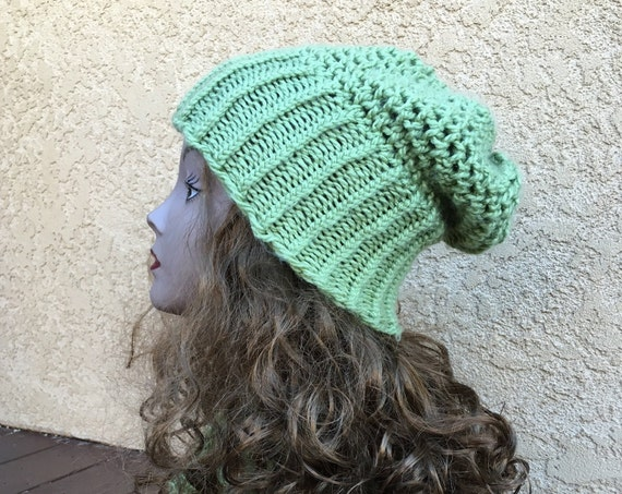 Mock Crochet Slouchy Hat - a loom knit pattern