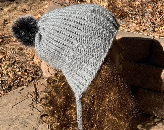 Featured listing image: Chickadee Hat -- a loom knit pattern