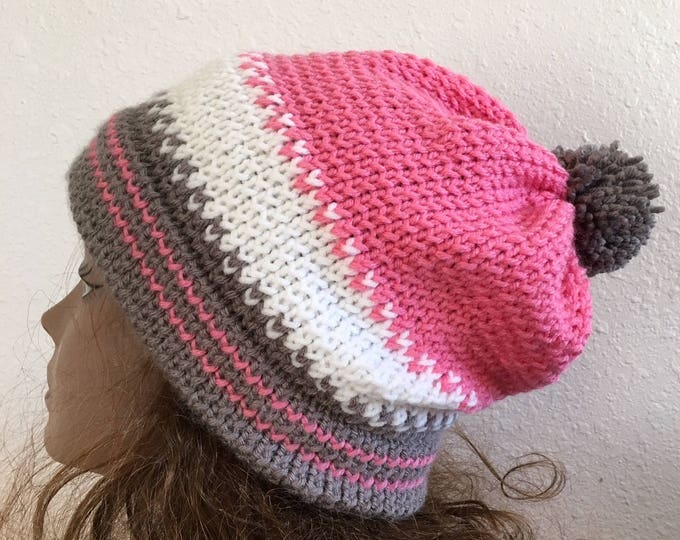 Featured listing image: Wild Horse Hat  --  a loom knit pattern