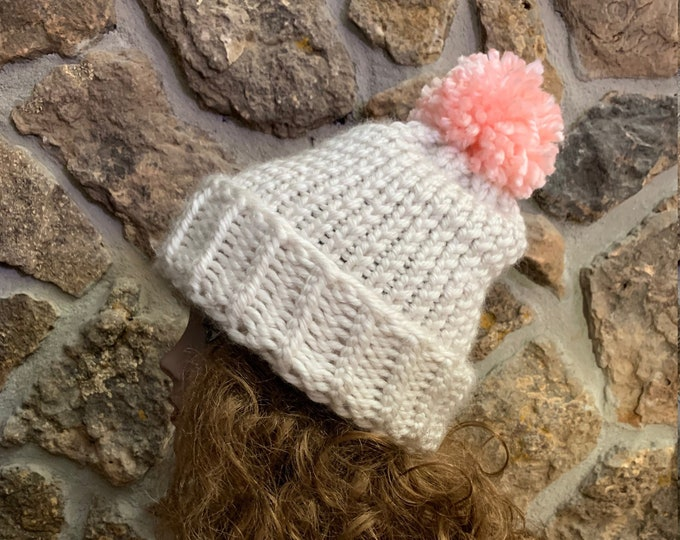 Featured listing image: Mount Princeton Hat  --  a loom knit pattern