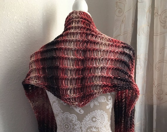 Crystal Mill Scarf  -- a loom knit pattern