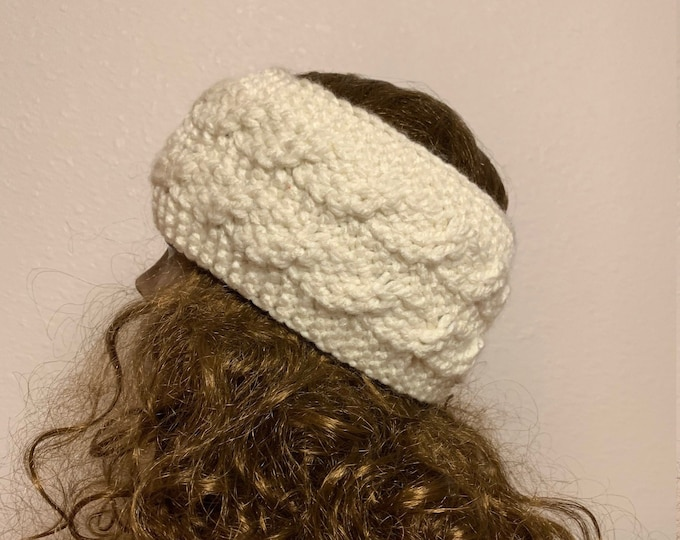 Featured listing image: Cabled Headband -- a loom knit pattern