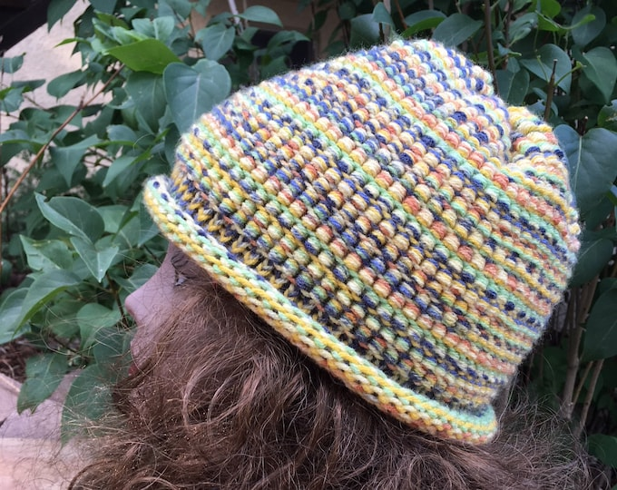Featured listing image: Barrel Stitch Hat -- a loom knit pattern