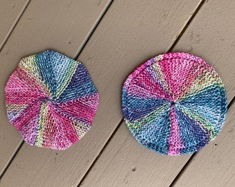 Circular and Spiral Galaxy Dishcloths - 2 loom knit patterns