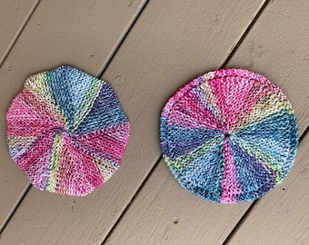 Circular and Spiral Galaxy Dishcloths - 2 loom knit patterns