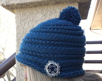 One Row Hat - a loom knit pattern