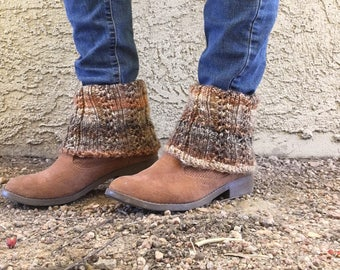 Ankle Boot Cuffs  --  a loom knit pattern