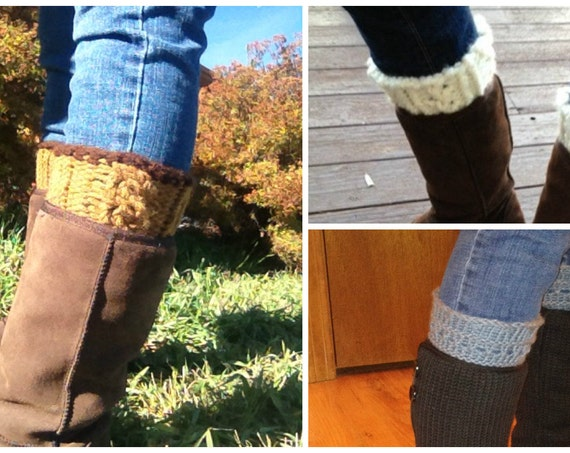 Boot Toppers eBook - 3 unique loom knit patterns