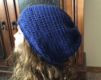 Easy Slouchy Hat -- a loom knit pattern