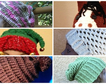 Hats eBook - 6 unique loom knit patterns