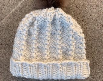 Barrels & Purls Hat -- a loom knit pattern