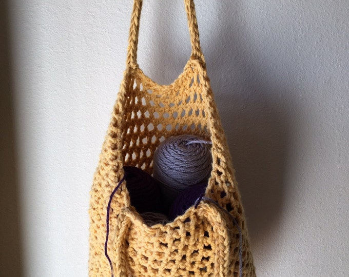 Featured listing image: Tote Bag - a loom knit pattern