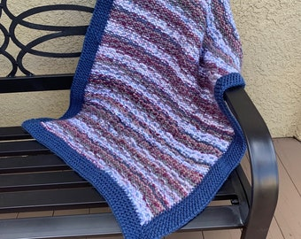 Colorado River Stroller Blanket  --  a loom knit pattern