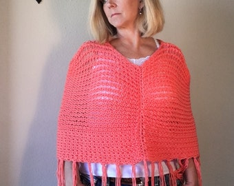 Mountain Dandelion Cape - a loom knit pattern