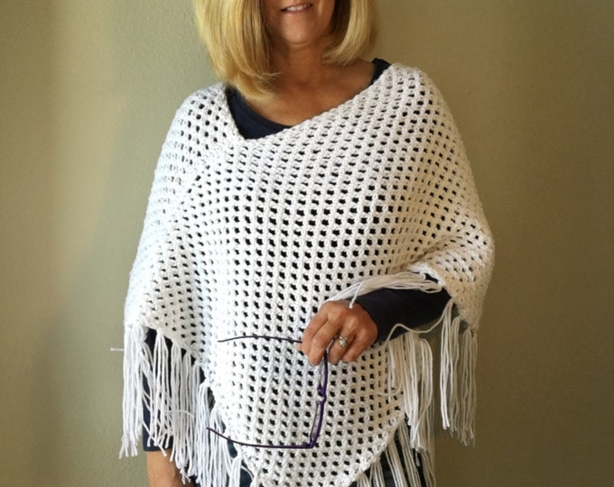 Featured listing image: Spanish Peaks Poncho -- a loom knit pattern