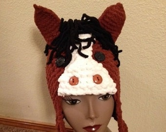 Horse Hat -- a loom knit pattern