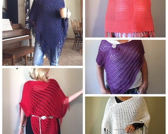 Ponchos eBook - 5 unique loom knit patterns