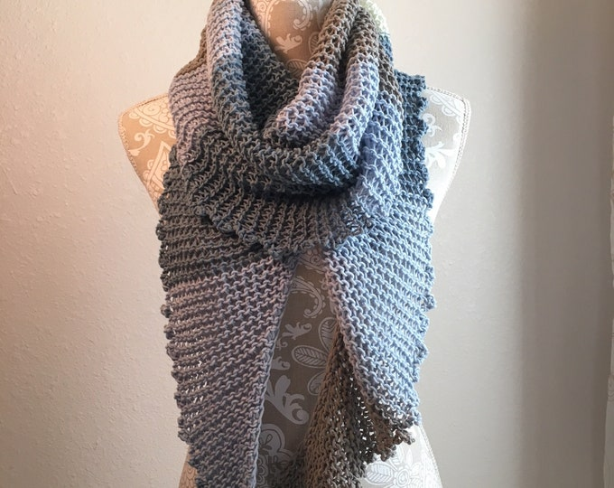 Featured listing image: Knotty Scarf -- a loom knit pattern