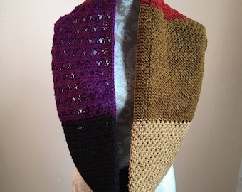 Stitch Sampler Infinity Scarf  --  a loom knit pattern