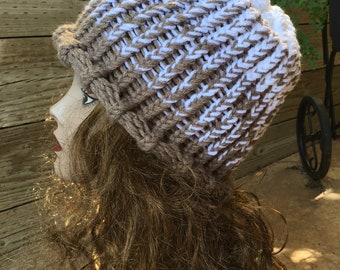 Fishers Peak Gradient Hat  --  a loom knit pattern
