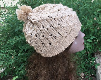Cluster Stitch Hat - a loom knit pattern