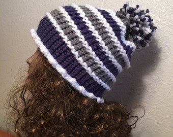 Garter Ridged Hat - a loom knit pattern