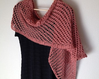 Lattice Stitch Shawl - a loom knit pattern