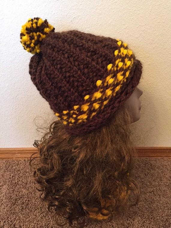 Color Block Hat -- a loom knit pattern